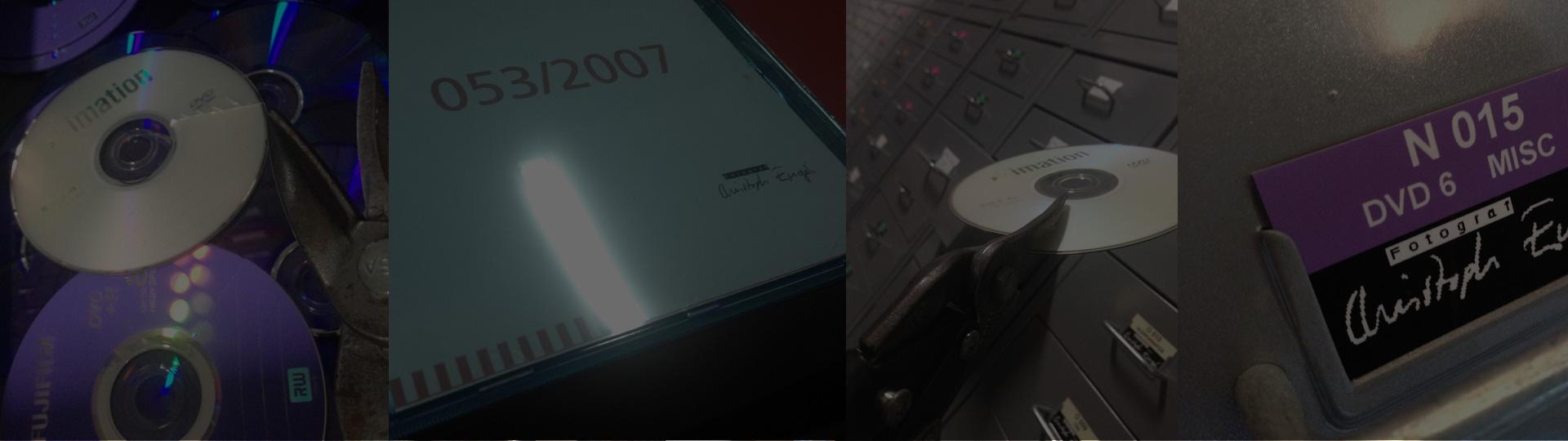 Alte DVDs werden endgültig geschreddert. Mittlerweille sind alle Daten seit Beginn meiner Tätigkeit 3-fach gesichert.